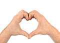 Heart made of hands Royalty Free Stock Photo