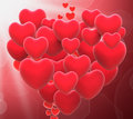 Heart made with hearts means love relationships meaning or couples Stock Photos