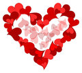 Heart made from red hearts Royalty Free Stock Photography