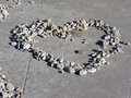 Heart made of rocks as a symbol love picture was taken in slovenian on a coastline nice image showing the way we can tell we Stock Photography