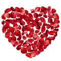 Heart made of rose petals Stock Photography