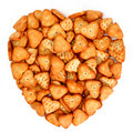 Heart made from salty cookies Royalty Free Stock Photo