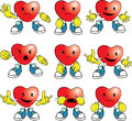 Heart man cartoon emotions Stock Image