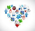 Heart medical icons illustration design graphics