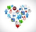 Heart medical icons illustration design graphics