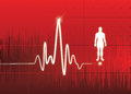 Heart monitor abstract background whit healthy man icon great for print and presentation Royalty Free Stock Images