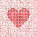Heart  mosaic Stock Images
