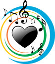 Heart music Royalty Free Stock Photo