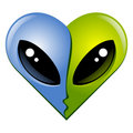 Heart N7. Kissing aliens Royalty Free Stock Photos