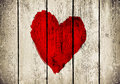 Heart on old wooden wall Stock Photo