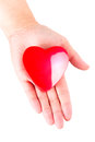 Heart on open palm as love symbol Royalty Free Stock Photo