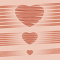 Heart origami pink background vector illustration for valentine file contain transparency Royalty Free Stock Photo