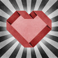 Heart origami recycled paper craft Stock Photos