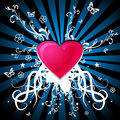 Heart with ornaments Royalty Free Stock Images