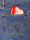 Heart out of pocket Royalty Free Stock Photos