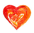 Heart painted Stock Images