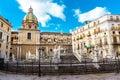 Heart palermo s loveliest square piazza pretoria stands magnificent fountain fontana pretoria work florentine sculptor francesco Stock Images
