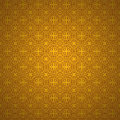 Heart pattern on  gold background. Stock Photography