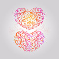 Heart pattern illustration of two Royalty Free Stock Photo