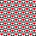 Heart Pattern Seamless Royalty Free Stock Image