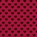 Heart pattern seamless valentine wrapping vector illustration Stock Image