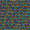 Heart pattern. Vector seamless background