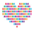 Heart with people background Royalty Free Stock Image