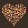 Heart - people icon Stock Photography