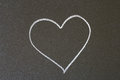 Heart picture in chalk on a blackboard Royalty Free Stock Photo