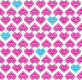 Heart pink seamless background, pattern - Valentines Day Stock Photos