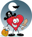 Heart Pirate Royalty Free Stock Photo
