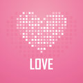 Heart pixel icon vector illustration on pink background Stock Photo