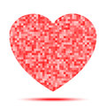 Heart Pixel icon Royalty Free Stock Photo