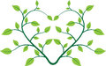Heart plant a vector drawing represents design Royalty Free Stock Photography
