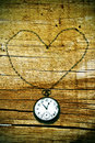 Heart pocket watch Royalty Free Stock Image