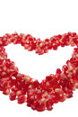Heart of pomegranate grains Royalty Free Stock Image