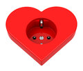 The heart power socket Royalty Free Stock Photo