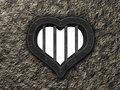 Heart prison window Royalty Free Stock Photo