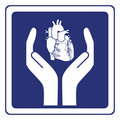 Heart protection sign Stock Photo