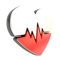 Heart pulse beat and health issues icon Stock Photography