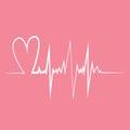 Heart Pulse. Flat Design Vecto...