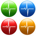 Heart pulse four colors variation Royalty Free Stock Photo