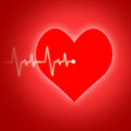 Heart pulse indicates preventive medicine and cardiogram showing wellbeing Stock Image