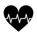 Heart pulse rhythm cardio pictogram