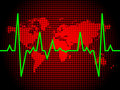 Heart pulse of world Royalty Free Stock Photo