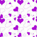 Heart purple pattern Royalty Free Stock Photo