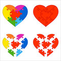 Heart puzzle Royalty Free Stock Photos
