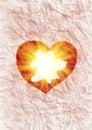 Heart radiating light Royalty Free Stock Photo