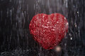 Heart in rain shape heavy close up view Royalty Free Stock Photography