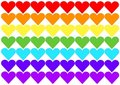 Heart rainbow flag Stock Photos